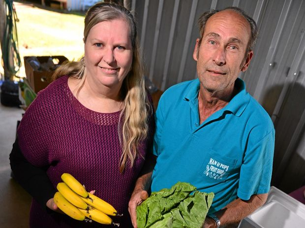 Gordan and Dawn Lindsay from Nan and Pop's Fruit Shop